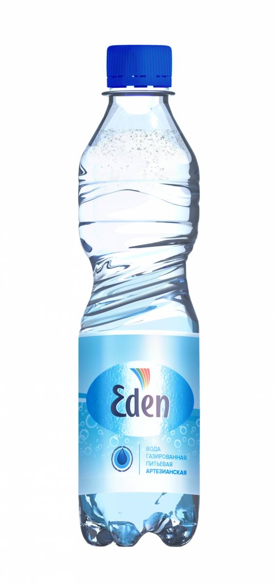 В-Вода 0,5л, Эден питьевая газ