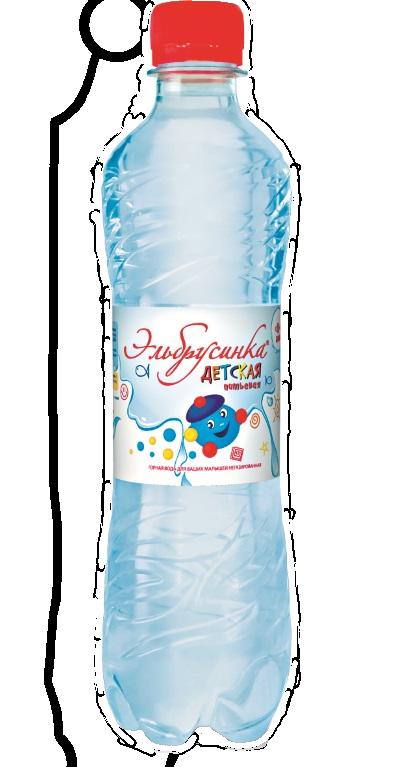 В-Вода 0,5л, Эльбрусинка минер, б/газ