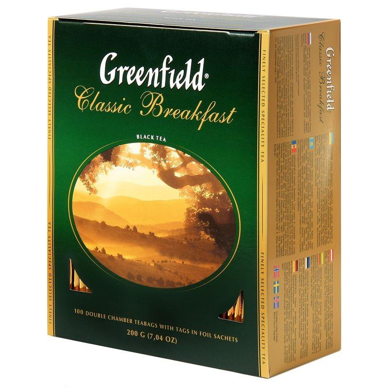 Б-Чай Гринфилд Classic Breakfast, черн., 100п.*2г.