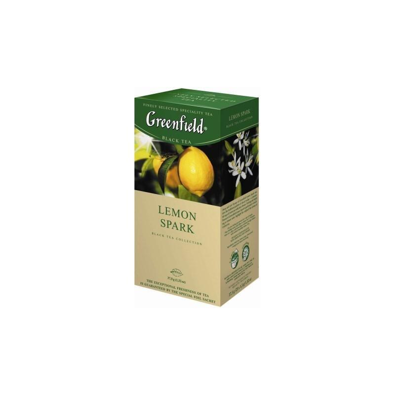 Б-Чай Гринфилд Lemon Spak, черн., 25п.*2г