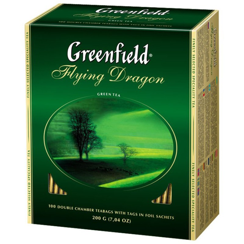 Б-Чай Гринфилд Flying Dragon, зел.,100п.*2г.
