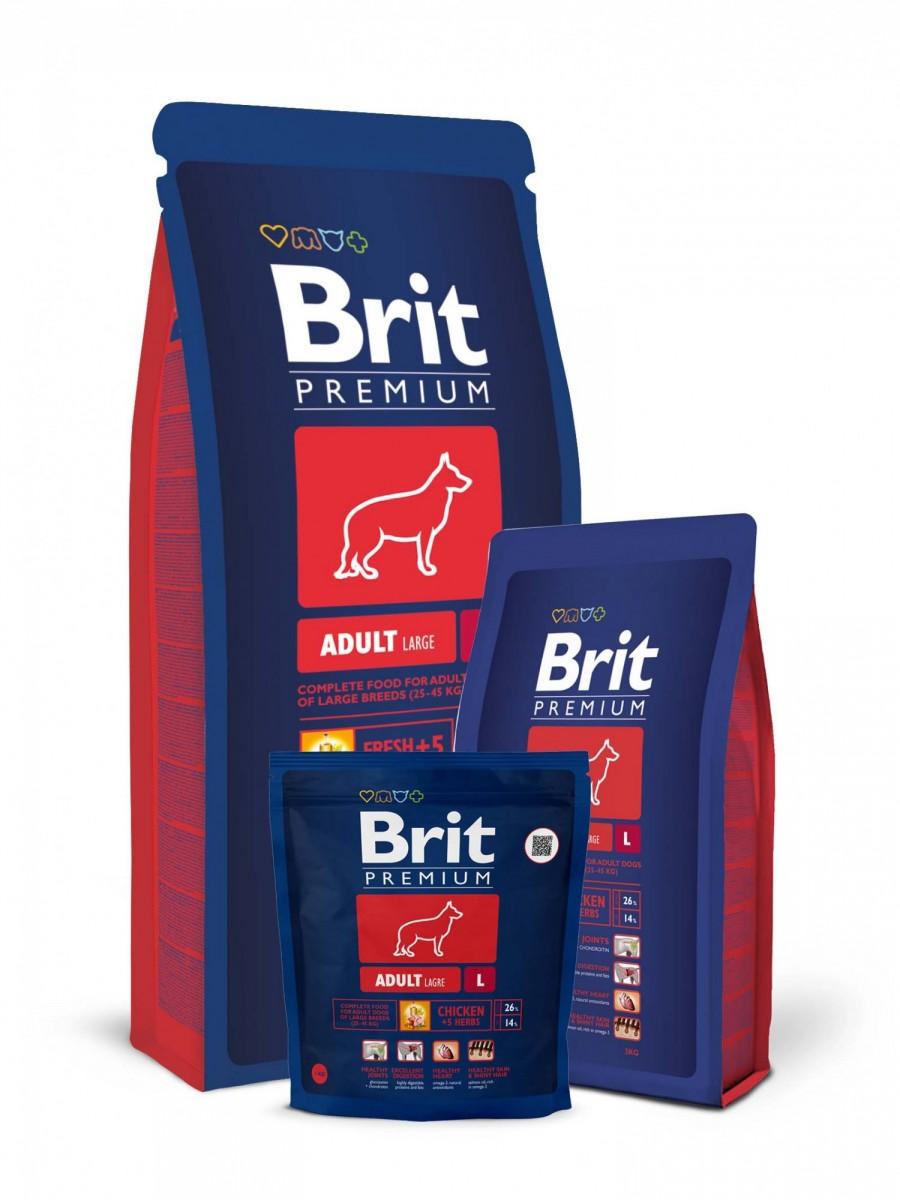 Корм BRIT для взрослых крупных собак, 15кг