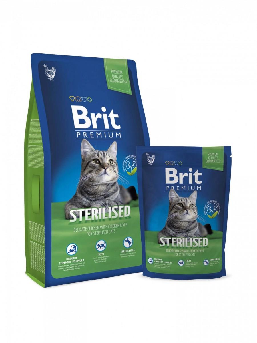 Корм BRIT для стерилизованных кошек, 300 г