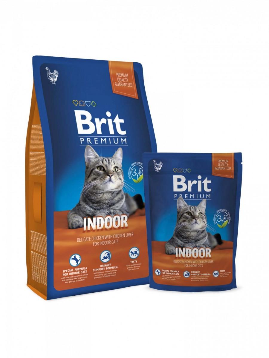 Корм BRIT для домашних кошек, 300г