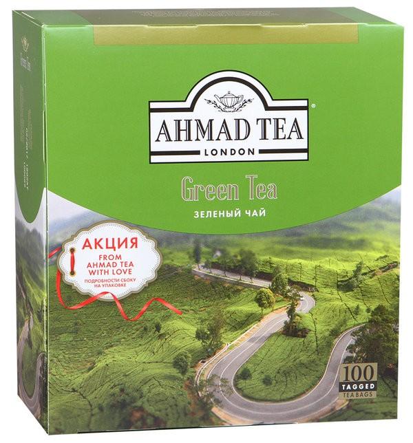 Чай Ахмад зеленый.100*2