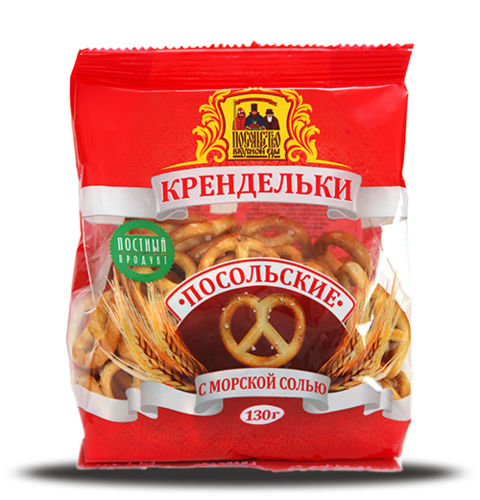 """Крендельки """"Посольские"""" с морской солью 130г"""